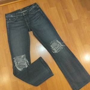 7 for all mankind Distressed 29 jeans Boot…